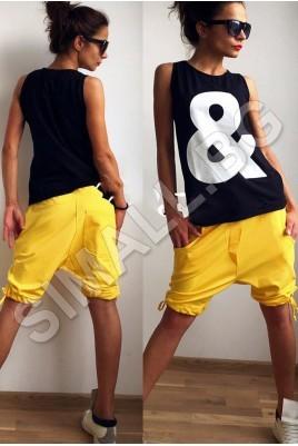 Дамски къси панталони тип потур в 3 цвята