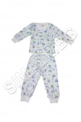 Българска детска пижама-размер от 80см до 128см.