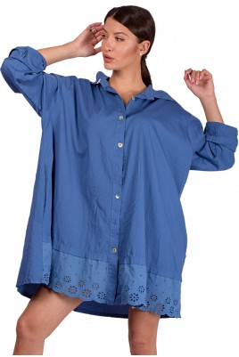 Дамска риза с бродерия в 4 цвята