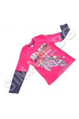 Детска блузка за момчета от 1 до 5 години в червен цвят