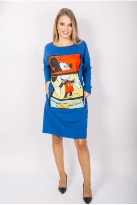 Дамска туника тип рокля в 4 цвята