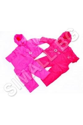 Детска зимна грейка за момичета от две части - яке и долнище с презрамки