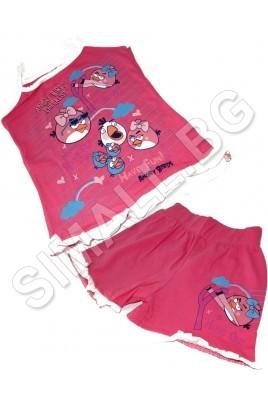 Детски комплект от две части за момичета от 4 до 8 години в цвят пепел от рози