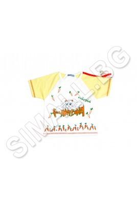 Тениска в два цвята за момче и за момиче от 1 до 3 годинки