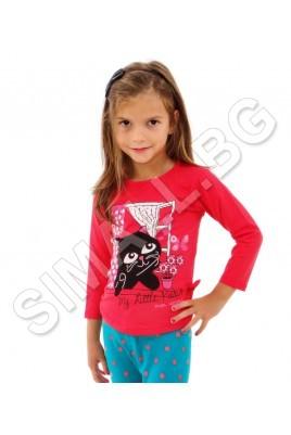 Детска блуза с дълъг ръкав за момичета от 1 до 4 години