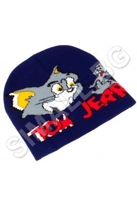 Детска зимна шапка ТОМ и ДЖЕРИ за момчета от 1 до 5 години