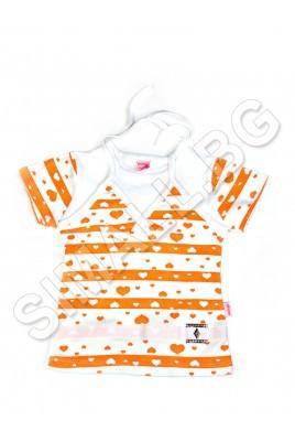 Детска блуза с къс ръкав за момиченца от 4 до 6 годинки