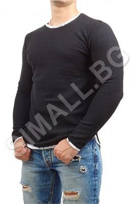 Мъжка блуза с дълъг ръкав в 2 цвята