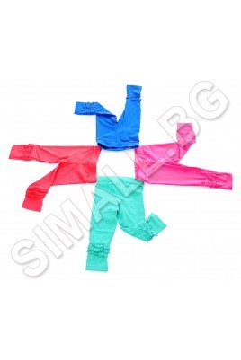 Детски елегантен клин с къдрички  за момиченца от 1 до 5 години